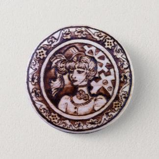 Margarette - Steampunk Knopf-Button Runder Button 5,7 Cm