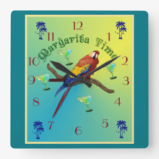 Margarita-Zeit Quadratische Wanduhr