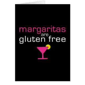 Margaritas sind das freie Gluten Grußkarte