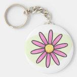 Marguerite assez rose porte-clefs