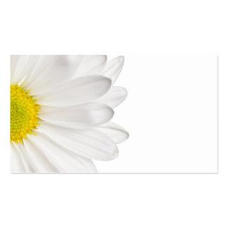 Marguerites customisées par arrière - plan de carte de visite standard
