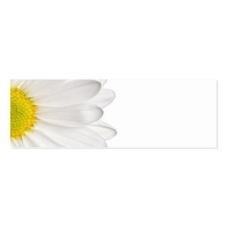 Marguerites customisées par arrière - plan de fleu cartes de visite personnelles