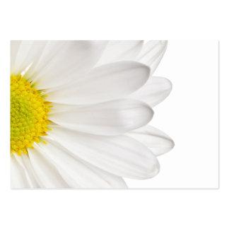 Marguerites customisées par arrière - plan de fleu modèles de cartes de visite