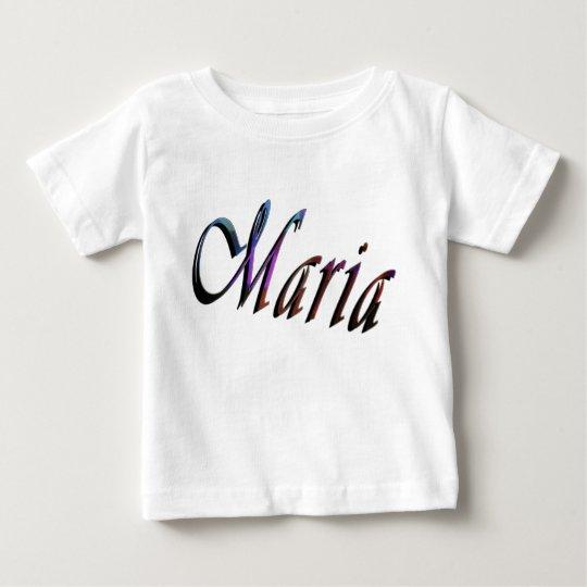 Maria, Namenslogo, der weiße T - Shirt des Babys