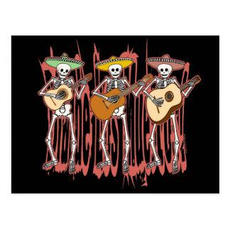 Mariachi-Skelett-Trio Postkarte