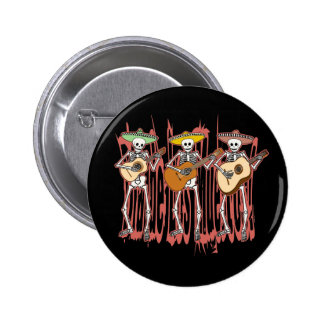 Mariachi-Skelett-Trio Runder Button 5,7 Cm