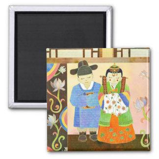 Mariage coréen traditionnel : Cadeau de mariage mi Magnets Pour Réfrigérateur