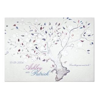 Mariage d'arbre d'imaginaire carton d'invitation  12,7 cm x 17,78 cm