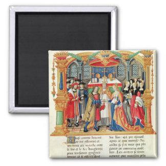 Mariage de Maria de Bourgogne et de Maximilian I Aimant Pour Réfrigérateur
