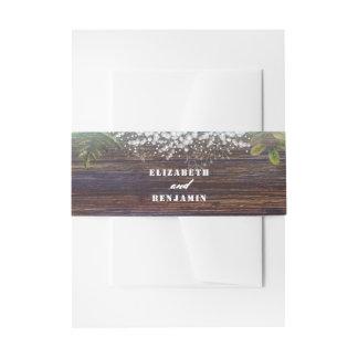 Mariage en bois rustique de grange du souffle du bandeau de faire-part