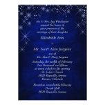 Mariage formel bleu de nuit étoilée invitations personnalisables