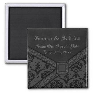 Mariage gris et noir de dentelle de Goth Aimant