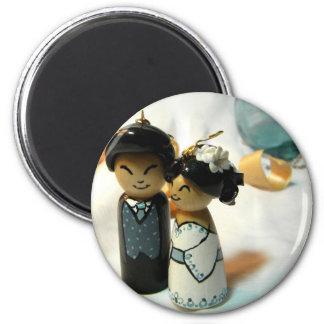 Mariage I de Kokeshi Aimants