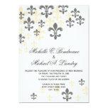 Mariage informel de Fleur de Lis Cascade Carton D'invitation 12,7 Cm X 17,78 Cm