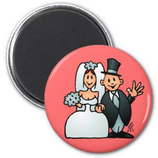 Mariage merveilleux magnets pour réfrigérateur