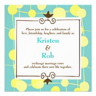 Mariage pointillé de bleu de Bubblegum Faire-parts