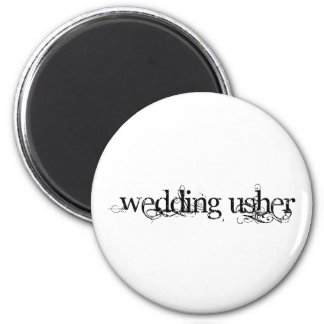 Mariage Usher Magnet Rond 8 Cm