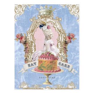 Marie Antoinette-Essen Kuchen… Postkarte