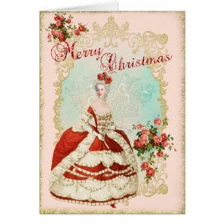 Marie Antoinette  Greeting Card Christmas Rose Karte