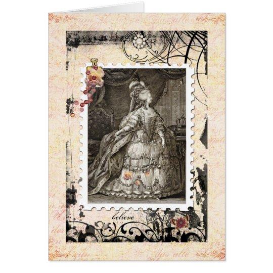 Marie Antoinette leere Karte