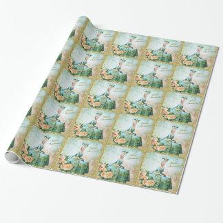 Marie Antoinette Packpapier-Smaragd-Garten Einpackpapier