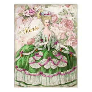 Marie Antoinette  Portrait Postcard Bouquet Postkarte