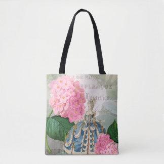 Marie Antoinette rosa Blumen-Tasche