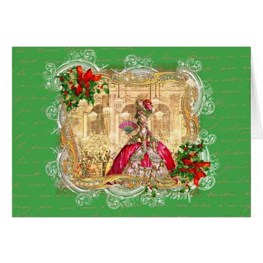 Marie Antoinette Weihnachtsball Karte
