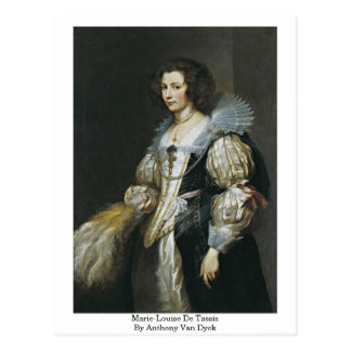 Marie-Louise De Tassis By Anthony Van Dyck Postkarte
