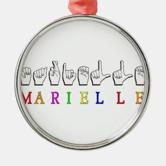MARIELLE RUNDES SILBERFARBENES ORNAMENT