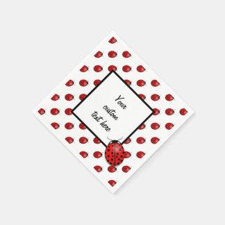 Marienkäfer im Rot Papierservietten