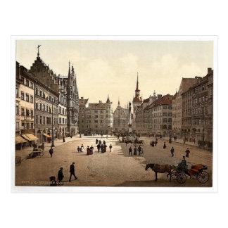 Marienplatz, München, Bayern, Deutschland Postkarte