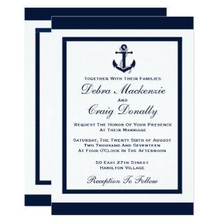 Marine-Anker - Hochzeits-Einladung Karte