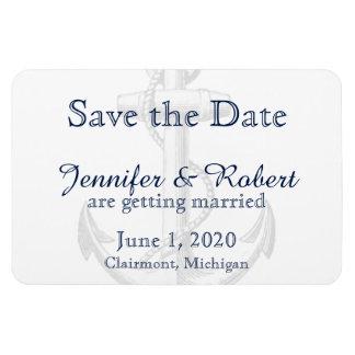 Marine-Anker-Strand-Hochzeit Save the Date Magnet