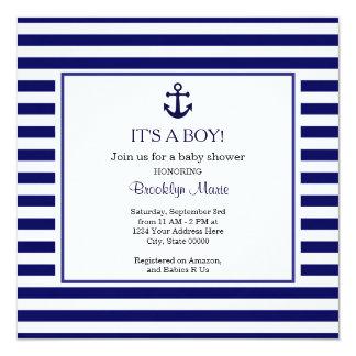 Marine-Babyparty-Einladung Karte