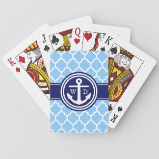 Marine-Blau 2 Init des Himmel-Blau-marokkanisches Spielkarten