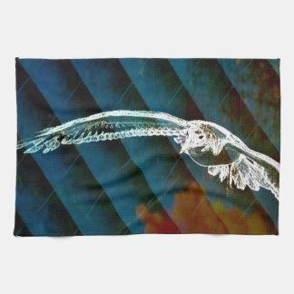 Marine-Blau-abstrakte Ozean-Vögel, die Seemöwe Handtuch