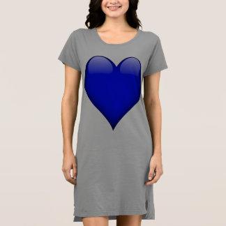 Marine-Blau-Glasherz kundengerecht Kleid