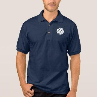 Marine-Blau-Polo mit weißem LR-Logo Polo Shirt