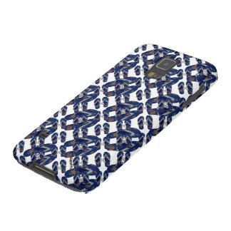 Marine-Blau-Purzelbaum-Fußbekleidung Samsung S5 Cover