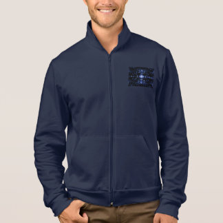 Marine-Blau-Rüttler-Jacke mit dem Zusammenbringen Jacke