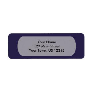 Marine-Blau-Schablone Rücksendeetikett