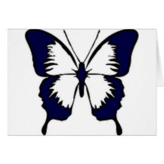 Marine-Blau-Schmetterling Karte