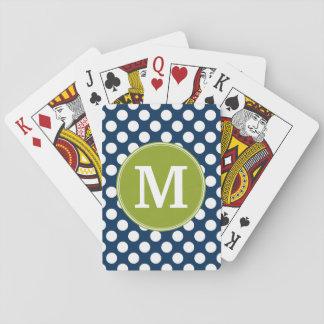 Marine-Blau u. Limones grünes Spielkarten