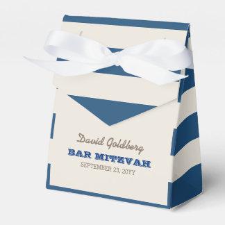 Marine-Blau u. Silber-Bar Mitzvah Geschenkschachtel