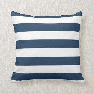 Marine-Blau-und weißesmutiges Kissen