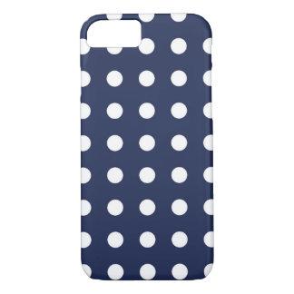 Marine-Blau-weißer schicker Tupfen iPhone 7 Kasten iPhone 7 Hülle
