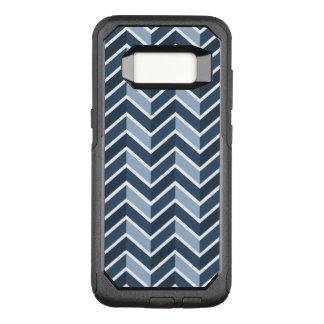 Marine-Blau-Zickzack Muster OtterBox Commuter Samsung Galaxy S8 Hülle