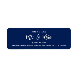 Marine-Blau-zukünftige Herr-u. Frau-Wedding