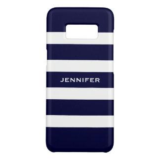 Marine-blaue Streifen-veränderbarer weißer Case-Mate Samsung Galaxy S8 Hülle